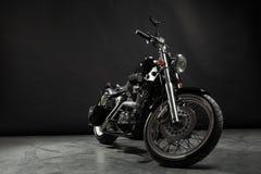 μαύρη μοτοσικλέτα Στοκ Εικόνα