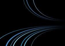 μαύρη μπλε γραμμή Στοκ Φωτογραφίες