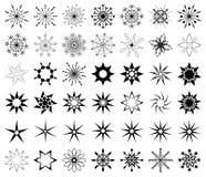 Μαύρη νιφάδα του χιονιού διανυσματική απεικόνιση