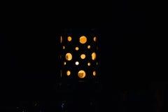 μαύρη νύχτα λαμπτήρων μήλων διαφανής Στοκ Φωτογραφία