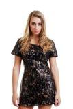 μαύρη ξανθή φθορά εφήβων φορ&ep Στοκ Φωτογραφία