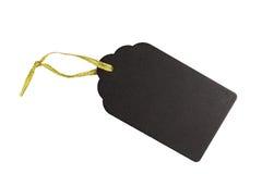 Μαύρη ξύλινη ετικέττα δώρων Στοκ Εικόνα