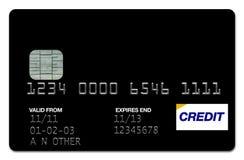 μαύρη πίστωση καρτών Στοκ εικόνα με δικαίωμα ελεύθερης χρήσης