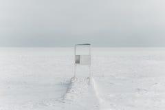 μαύρη παγωμένη θάλασσα Στοκ Εικόνες