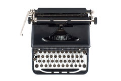 Μαύρη παλαιά γραφομηχανή από ανωτέρω στοκ εικόνες