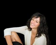 μαύρη πανέμορφη χαμογελώντ&a στοκ εικόνα με δικαίωμα ελεύθερης χρήσης