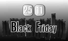μαύρη Παρασκευή Διανυσματική εικόνα με τη μαύρη Παρασκευή επιγραφής Στοκ Εικόνες