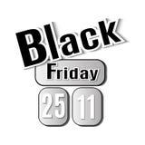 μαύρη Παρασκευή Διανυσματική εικόνα με τη μαύρη Παρασκευή επιγραφής Στοκ Φωτογραφία