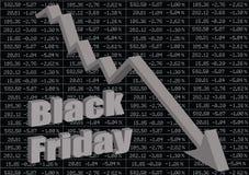 μαύρη Παρασκευή Η συντριβή χρηματιστηρίου στοκ εικόνα με δικαίωμα ελεύθερης χρήσης