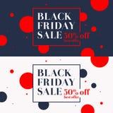 μαύρη Παρασκευή Μεγάλες πωλήσεις Καθιερώνουσα τη μόδα, σύγχρονη αφίσα για να διαφημίσει τα αγαθά σας Στοκ Εικόνα