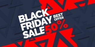μαύρη Παρασκευή Μεγάλες πωλήσεις Καθιερώνουσα τη μόδα, σύγχρονη αφίσα για να διαφημίσει τα αγαθά σας Στοκ Εικόνες