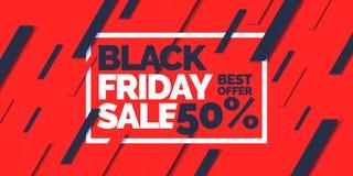 μαύρη Παρασκευή Μεγάλες πωλήσεις Καθιερώνουσα τη μόδα, σύγχρονη αφίσα για να διαφημίσει τα αγαθά σας Στοκ φωτογραφία με δικαίωμα ελεύθερης χρήσης