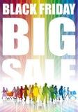 Μαύρη Παρασκευή, μεγάλη πώληση Στοκ Εικόνες