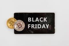 Μαύρη Παρασκευή Bitcoin Στοκ φωτογραφία με δικαίωμα ελεύθερης χρήσης