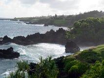 Μαύρη παραλία άμμου σε Maui Χαβάη στοκ εικόνες με δικαίωμα ελεύθερης χρήσης