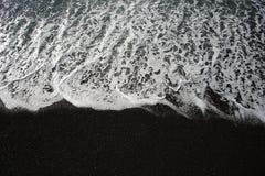 Μαύρη παραλία και άσπρο πλύσιμο - DSC4224 Στοκ φωτογραφία με δικαίωμα ελεύθερης χρήσης