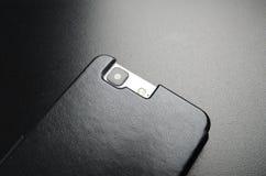 Μαύρη περίπτωση για το κινητό τηλέφωνο στοκ εικόνα με δικαίωμα ελεύθερης χρήσης