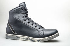 Μαύρη περιστασιακή μπότα παπουτσιών Στοκ Εικόνες