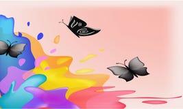 μαύρη πεταλούδα ανασκόπησ Στοκ Εικόνες