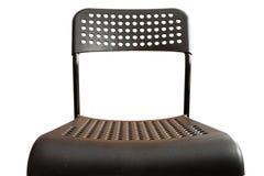 Μαύρη πλαστική καρέκλα στο άσπρο υπόβαθρο στοκ φωτογραφία με δικαίωμα ελεύθερης χρήσης
