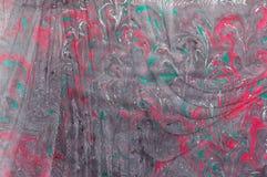 Μαύρη πορφύρα 1 εγγράφου Ebru Στοκ εικόνες με δικαίωμα ελεύθερης χρήσης