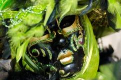 μαύρη πράσινη μάσκα Στοκ Φωτογραφία