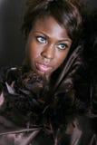 μαύρη προκλητική γυναίκα Στοκ φωτογραφία με δικαίωμα ελεύθερης χρήσης