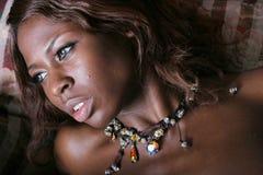μαύρη προκλητική γυναίκα στοκ εικόνα με δικαίωμα ελεύθερης χρήσης