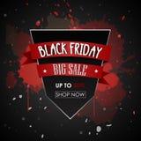 Μαύρη προωθητική αφίσα πώλησης Παρασκευής Στοκ εικόνες με δικαίωμα ελεύθερης χρήσης