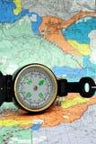 μαύρη πυξίδα lensatic Στοκ εικόνες με δικαίωμα ελεύθερης χρήσης