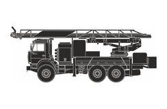 Μαύρη πυροσβεστική αντλία στο άσπρο υπόβαθρο Στοκ εικόνες με δικαίωμα ελεύθερης χρήσης
