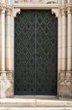 Μαύρη πόρτα καθεδρικών ναών σιδήρου Στοκ εικόνα με δικαίωμα ελεύθερης χρήσης