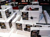 Μαύρη πώληση Παρασκευής της ηλεκτρονικής στο κατάστημα FNAC Στοκ Εικόνες