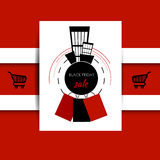 μαύρη πώληση Παρασκευής ε&m Στοκ φωτογραφία με δικαίωμα ελεύθερης χρήσης