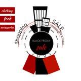 μαύρη πώληση Παρασκευής ε&m Στοκ εικόνα με δικαίωμα ελεύθερης χρήσης