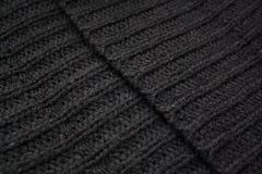 Μαύρη ραβδωτή μάλλινη υφαντική διαγώνιος ακρών στοκ φωτογραφία με δικαίωμα ελεύθερης χρήσης
