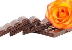 μαύρη σοκολάτα πορώδης Στοκ Φωτογραφίες