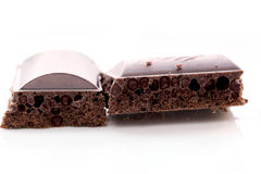 μαύρη σοκολάτα πορώδης Στοκ φωτογραφία με δικαίωμα ελεύθερης χρήσης