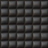 Μαύρη σύσταση δέρματος μαξιλαριών άνευ ραφής Στοκ φωτογραφία με δικαίωμα ελεύθερης χρήσης
