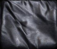 μαύρη σύσταση δέρματος Στοκ Φωτογραφία