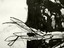 μαύρη σύσταση μελανιού Στοκ Φωτογραφία
