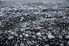 Μαύρη σύσταση παραλιών στοκ εικόνες με δικαίωμα ελεύθερης χρήσης