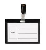 μαύρη ταυτότητα καρτών Στοκ Εικόνες