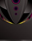 μαύρη τεχνολογία σχεδίο&ups Απεικόνιση αποθεμάτων