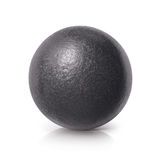Μαύρη τρισδιάστατη απεικόνιση σφαιρών σιδήρου Στοκ Φωτογραφία