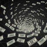 μαύρη τρύπα δολαρίων Στοκ Εικόνες