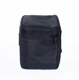 Μαύρη τσάντα για το φακό σε ένα άσπρο υπόβαθρο στοκ φωτογραφία με δικαίωμα ελεύθερης χρήσης