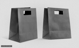 Μαύρη τσάντα εγγράφου αγορών που απομονώνεται στο εικονικό πλέγμα β διαφάνειας στοκ φωτογραφίες με δικαίωμα ελεύθερης χρήσης