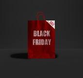 Μαύρη τσάντα εγγράφου Παρασκευής Στοκ φωτογραφία με δικαίωμα ελεύθερης χρήσης