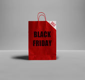 Μαύρη τσάντα εγγράφου Παρασκευής Στοκ Φωτογραφία